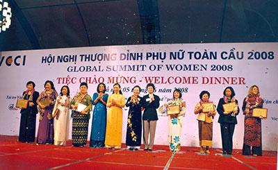 Bà Mai Thanh tham dự Hội nghị Thượng đỉnh Phụ nữ (2008)