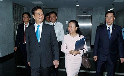 Đón tiếp Thủ tướng Nguyễn Tấn Dũng - Công trình VTV (2011)